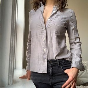 Grey Eddie Bauer button down shirt